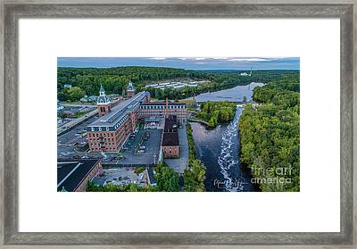 Framed Print featuring the photograph Ponemah Mill by Michael Hughes