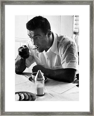 Rocky Marciano Framed Print by Al Fenn