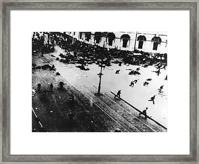 Russian Revolution Framed Print by Keystone