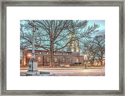 Saint Annes Circle With Fountain Framed Print