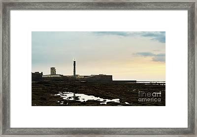 Framed Print featuring the photograph Saint Sebastian Lighthouse Cadiz Spain by Pablo Avanzini
