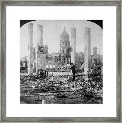 San Francisco 1906 Framed Print by Hulton Archive