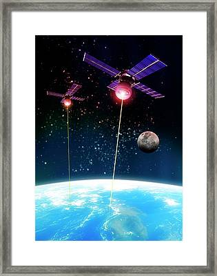 Satellite Attack, Artwork Framed Print by Victor Habbick Visions