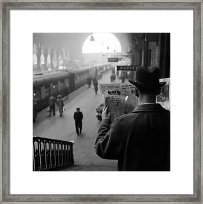 Secret Agent Framed Print by Harry Kerr