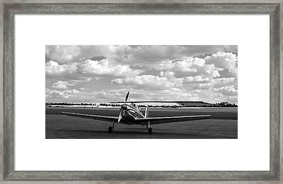 Silver Airplane Duxford England Framed Print