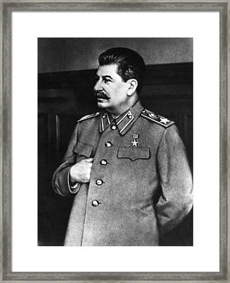 Stalin Framed Print by Hulton Archive