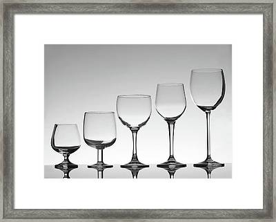 Stemware Framed Print by Donald gruener