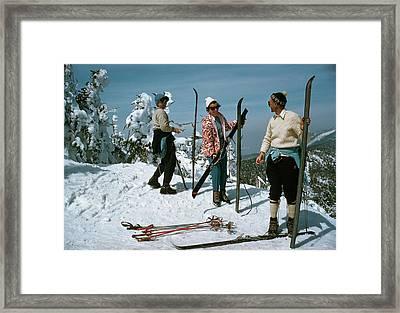Sugarbush Skiing Framed Print by Slim Aarons