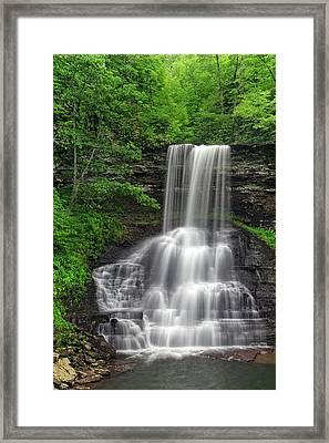 Summer Cascades Framed Print