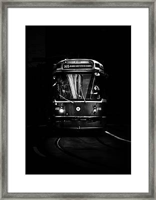 Framed Print featuring the photograph The 505 Dundas Streetcar Toronto Canada by Brian Carson