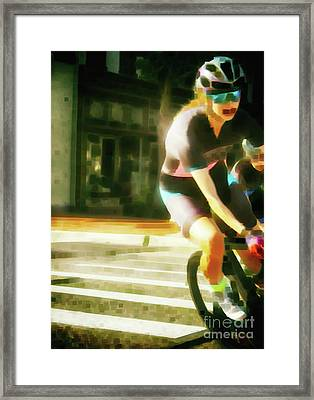 The Art Of Cycling  Framed Print by Steven Digman