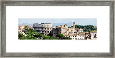 The Colosseum In Rome Italy Framed Print by Deejpilot