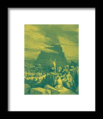 Tower Of Babel Gustave Dore Framed Prints