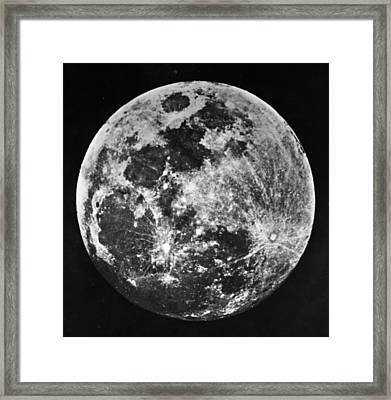 The Moon Framed Print by J. W. Draper
