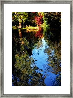 Framed Print featuring the photograph The Pond At Inglewood House by Jeremy Lavender Photography