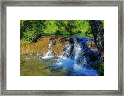 The Springs In It's Summer Green, Big Hill Springs Provincial Re Framed Print
