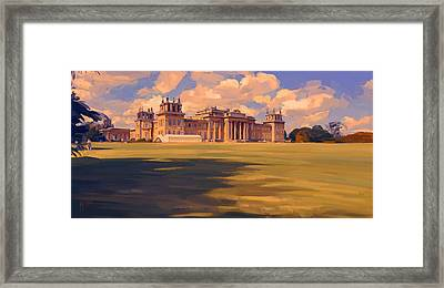 The White Party Tent Along Blenheim Palace Framed Print