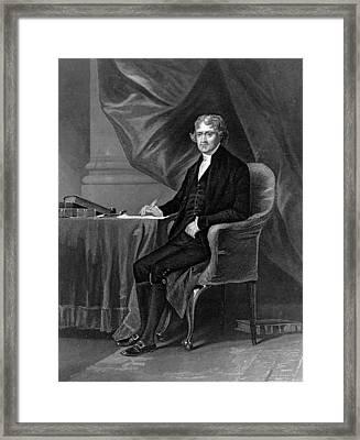 Thomas Jefferson Framed Print by Hulton Archive