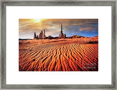 Totem Dunes Framed Print