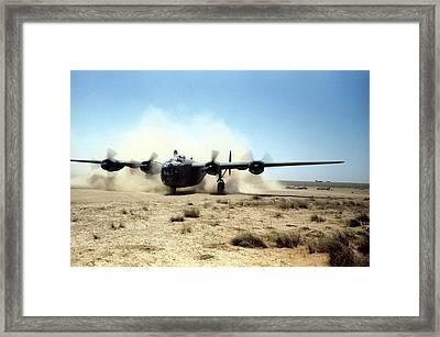 U.s Airforce Base Benghazi Libya Framed Print by Michael Ochs Archives