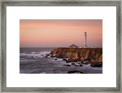 Usa, California, Point Arena Framed Print