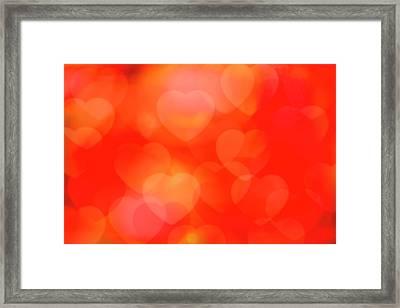Valentine Background Framed Print by Tetra Images
