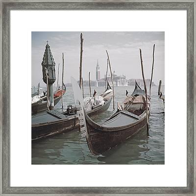 Venice Gondolas Framed Print by Slim Aarons