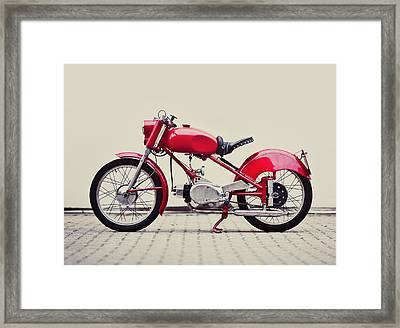 Vintage Italian Motorcycle Framed Print by Thepalmer