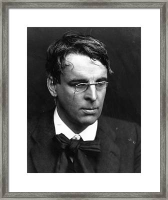 W B Yeats Framed Print by George C. Beresford