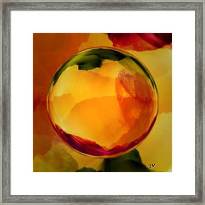 Watercolor Glass Marble  Framed Print