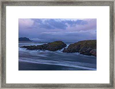 Waves At The Shore Framed Print