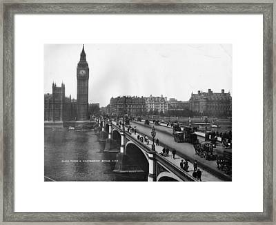 Westminster Bridge Framed Print by London Stereoscopic Company