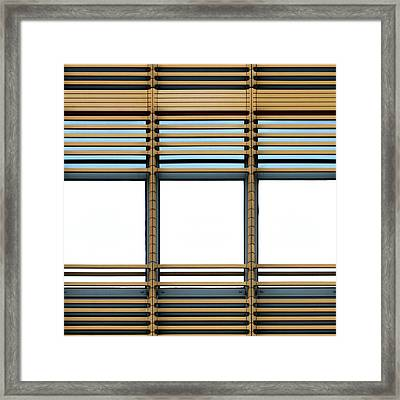 White Windows Framed Print