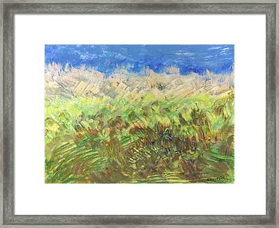 Framed Print featuring the painting Windy Fields by Norma Duch