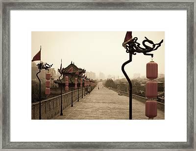 Xian City Wall, China Framed Print by Fototrav