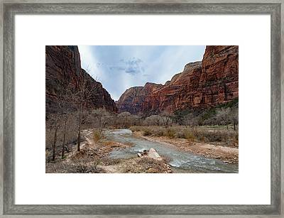Zion Canyon Framed Print