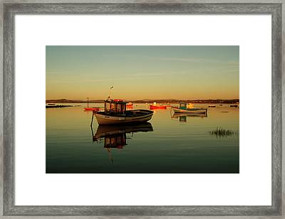 10/11/13 Morecambe. Boats On The Bay. Framed Print