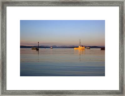 10/11/13 Morecambe. Fishing Boats Moored In The Bay. Framed Print