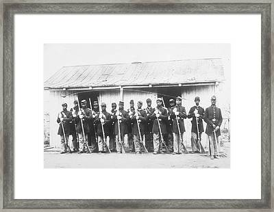 107th Us Coloured Infantry Framed Print by Archive Photos