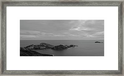 Dawn In Black And White In The Cap De Creus Framed Print