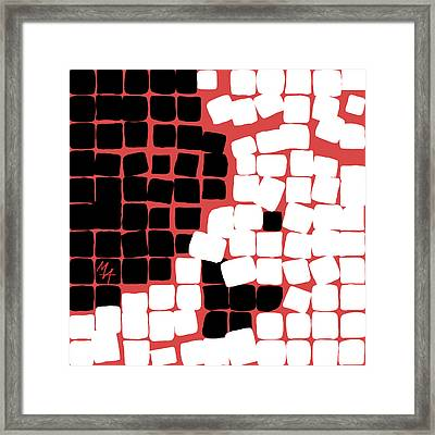 Framed Print featuring the digital art 11 X 11 Nude by Attila Meszlenyi
