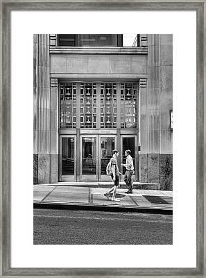 111 John Street Framed Print by Sharon Popek