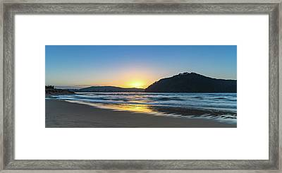 Hazy Sunrise Seascape Framed Print