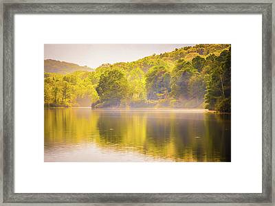 Framed Print featuring the photograph Julian Price Lake, Along The Blue Ridge Parkway In North Carolin by Alex Grichenko