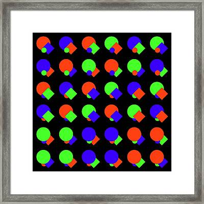 135 Circle And Square - Phi Framed Print