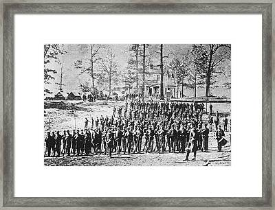 149th Ny Volunteer Regiment Framed Print by Archive Photos