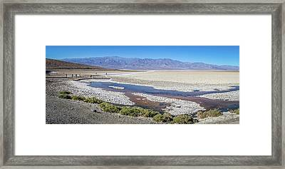 Framed Print featuring the photograph Badwater Basin Death Valley National Park California by Alex Grichenko