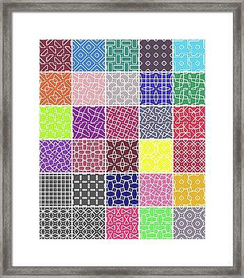 16 Connect 2 Grid Framed Print