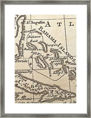 1776 Map Of Caribbean West Indies Framed Print