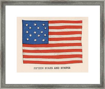1794 American Flag Framed Print by Kean Collection